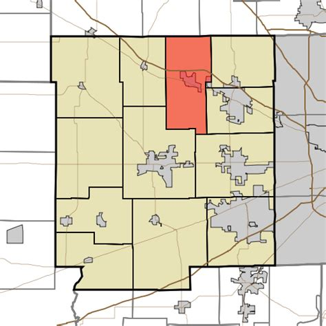 Hendricks County Search File Map Highlighting Middle Township Hendricks County Indiana Svg Wikimedia Commons