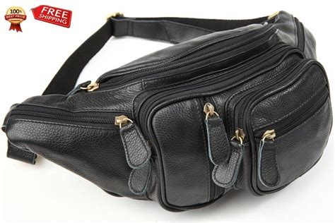 Waist Bag Nature polare s leather pack waist bag black