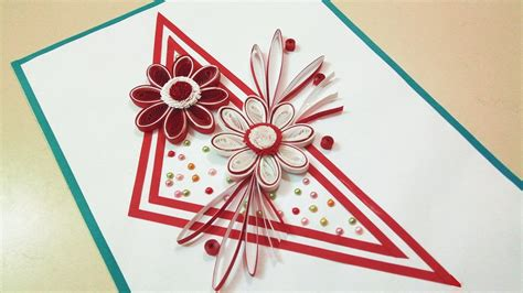 How To Make A Paper Quilling Designs - paper quilling designs how to make a birthday card