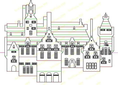 pop up building template модели в технике origamic architecture kaartjies wip op