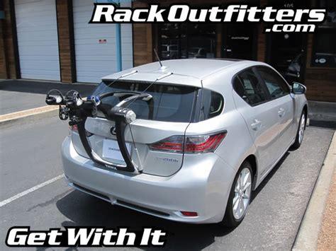 lexus ct 200h with thule 9001 raceway bike rack by rack