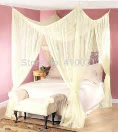 4 Point Canopy Bed Curtains 4 Post Bed Canopy Four Corner Point Bug Insect Mosquito