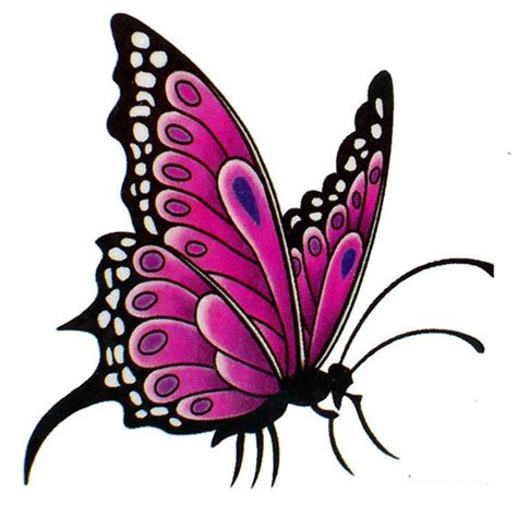 girly butterfly tattoo designs girly bright pink butterfly design tattooimages biz