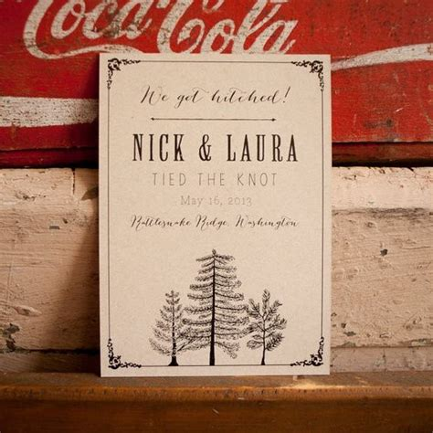 Wedding Announcement For Elopement by Eco Friendly Kraft Elopement Announcements Diy Ideas Of