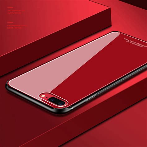 Iphone 8 Plus Back Cover Casing Sarung Bumper Premium Keren tempered glass for iphone x 8 plus 7 luxury back cover soft tpu silicone bumper on the