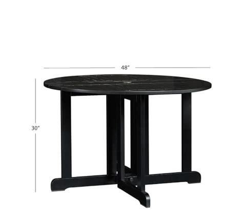 Black Table With Leaf Hstead Painted Drop Leaf Dining Table Black