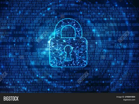 Powerpoint Template Security Concept Lock On Digital Screen Cyber Security Concept Background Cyber Security Powerpoint Template Free