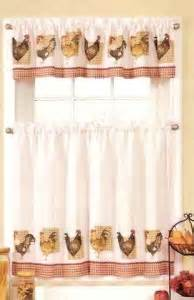 Rooster Kitchen Curtains New Sets Chicken Rooster Kitchen Curtains Valances