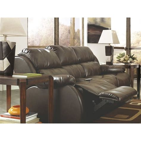 reclining sofa with table ashley mollifield leather reclining sofa with drop down