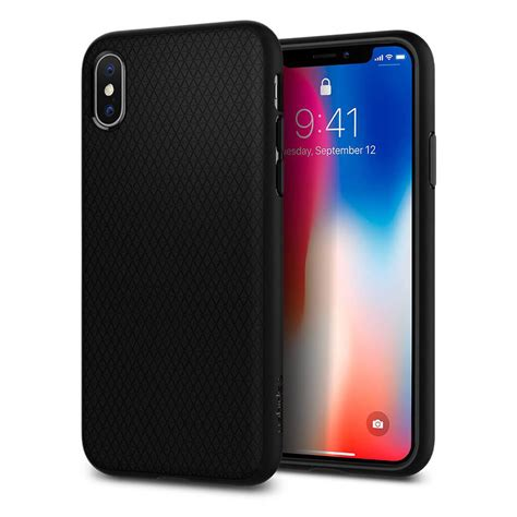 Spigen Apple Iphone X Liquid Matte Black 057cs22119 spigen 174 liquid air 057cs22123 iphone x matte black