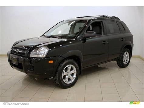2006 Hyundai Tucson Gl by 2006 Obsidian Black Hyundai Tucson Gl 25501193 Photo 3