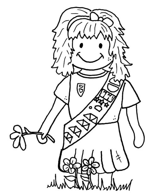 scouts coloring pages 87 best gs coloring pages printables images on mandalas brownie scouts and