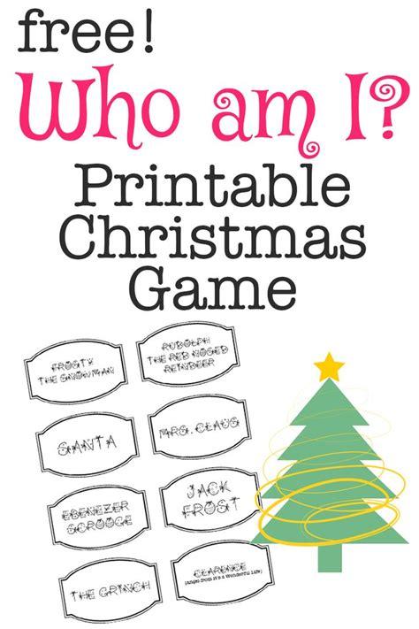 Printable christmas games christmas games and who am i on pinterest