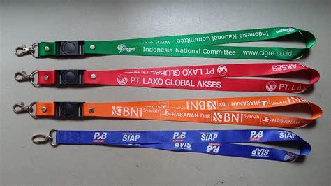 Gantungan Id Card Custom jual tali id atatu kalung lanyard harga murah jakarta oleh pt arian guna mandiri