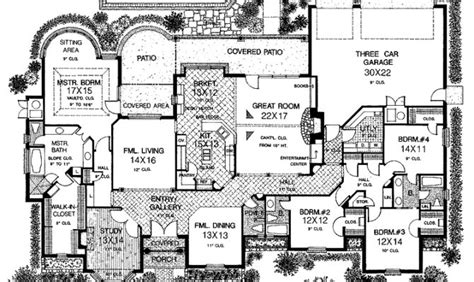 one story house plans with large kitchens smart placement one story house plans with large kitchens ideas house plans 84697