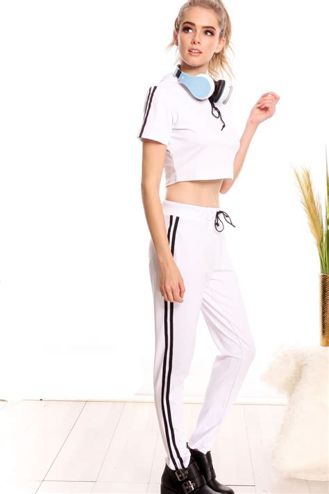 20240 Popular Jumpsuit L white two sleeve hooded halter top jumpsuit jumpsuits and rompers jumpsuit