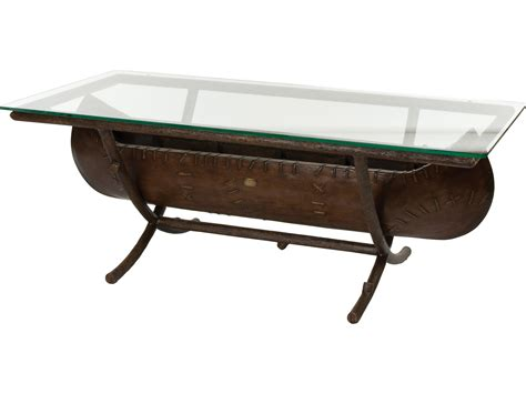 canoe coffee table for sale whitecraft chatham run canoe 54 x 26 rectangular glass top