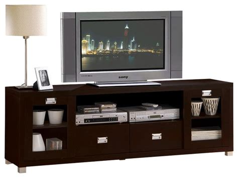 Tv Console Cabinet by Commerce Espresso Finish Tv Stand Cabinet