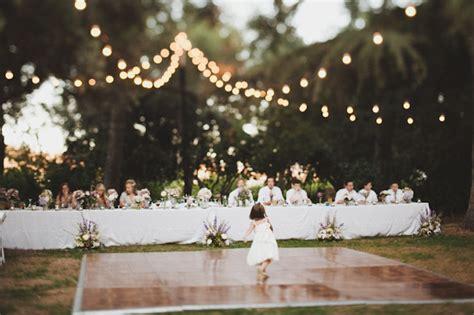 Backyard Wedding No Floor Ceremony Reception At Highland Springs Resort