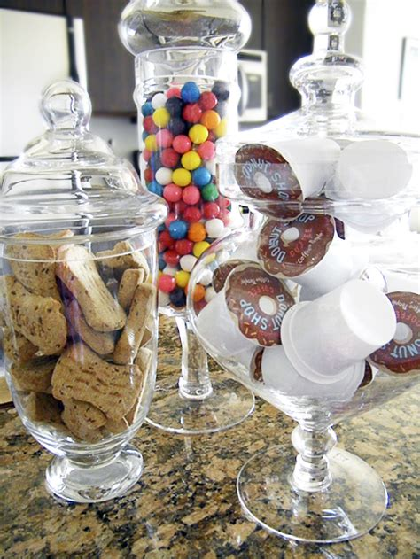 add   apothecary jar collection  put fun treats