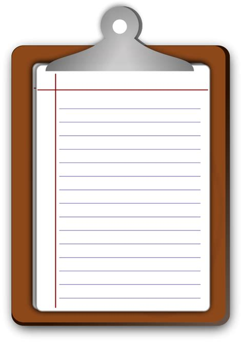 Free Clipart Writing Pad Objects