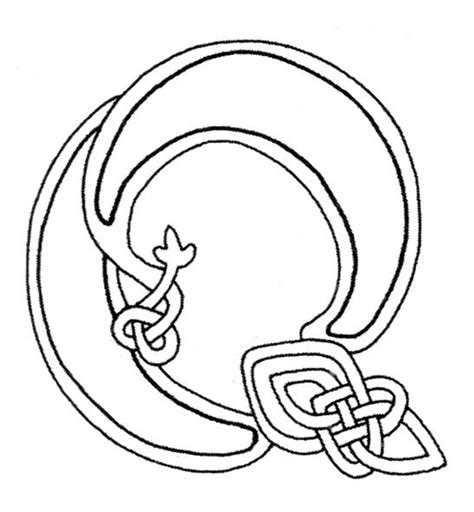 celtic letter coloring page 17 best images about celtic illuminated text on pinterest