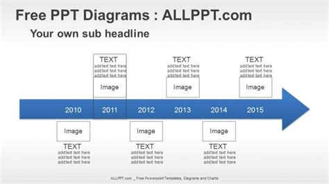 6 years arrow timeline ppt diagrams free