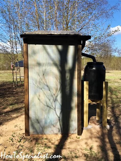 outdoor wooden outhouse diy project howtospecialist