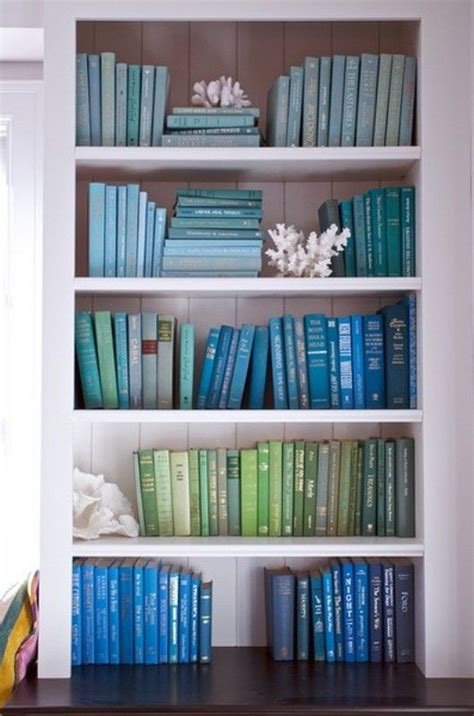 what color is blue books 12 incredibly satisfying color coordinated bookshelves
