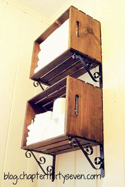 crate shelves bathroom great idea for downstairs bathroom wood crate shelves by