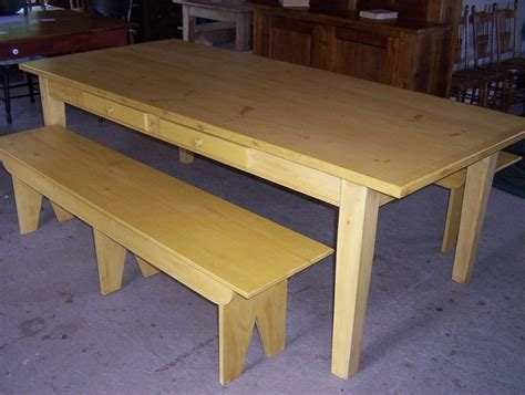 harvest table with bench harvest farm table with bench in the heart of the