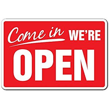 amazon.com: come in we're open business sign store hours