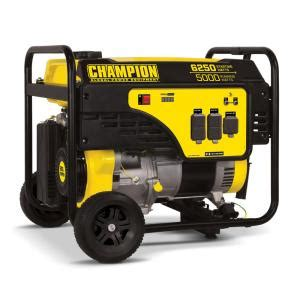 chion power equipment 5000 watt gasoline powered recoil
