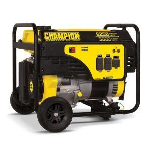 chion power equipment 5000 watt gasoline powered recoil