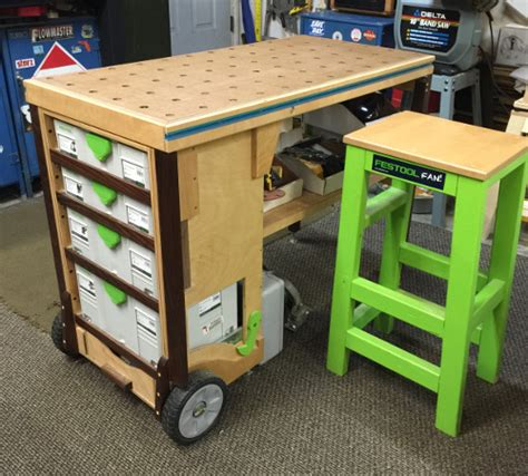festool bench mobile workbench mft festool diy garage storage ideas