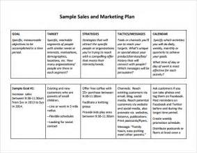 Sales Business Plan Template Free by Free Sales Plan Templates Free Printables Word Excel