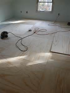 Best Plywood For Flooring by Plywood Floor Going Stains In Kitchen And Plywood