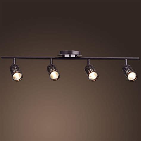 Antique Track Lighting Fixtures Claxy Ecopower Vintage Rubbed Bronze Metal Track Lighting Ceiling Light Fixture Home Garden