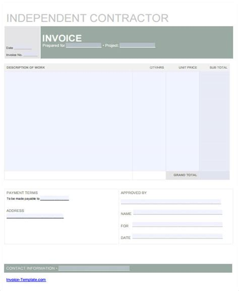 28 independent contractor invoice sle 21 sle contractor