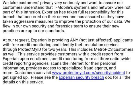 T Mobile Credit Letter Experian Data Breach Affects 15m Users Including Some T Mobile Customers