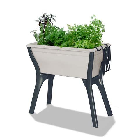 Jardiniere D Interieur Sur Pied by Espace Potager Blanc Cass 233 Jardini 232 Re Et Balconni 232 Re