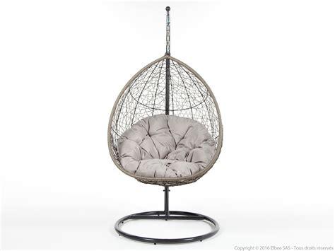 fauteuil suspendu de jardin en acier et r 233 sine tress 233 e ovalang