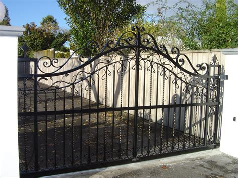 wrought iron fence lighting driveway gates 187 classic iron wrought iron gates fences