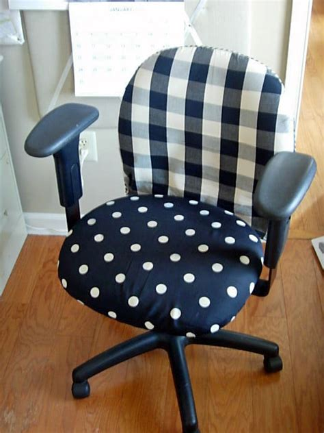 desk chair seat covers diy office chair makeover with fabric in my own style