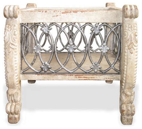 wrought iron accent tables wrought iron accent table weathered grey cream and gold
