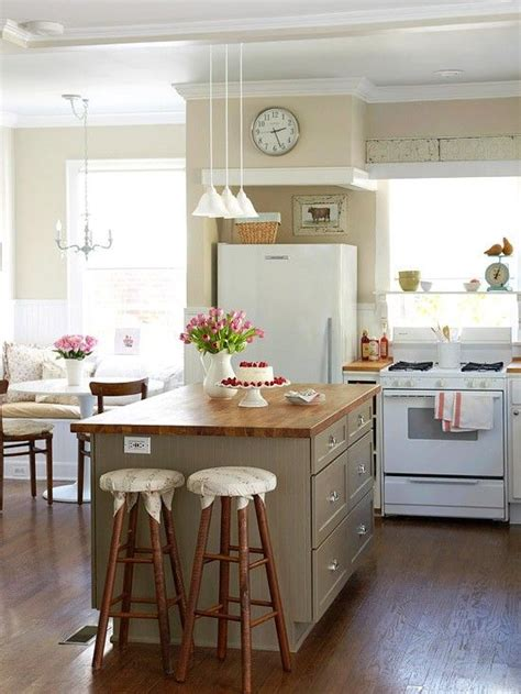 cottage kitchen islands 38 super cozy and charming cottage kitchens digsdigs