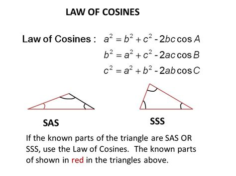 sections of the law section 6 2 the law of cosines ppt download