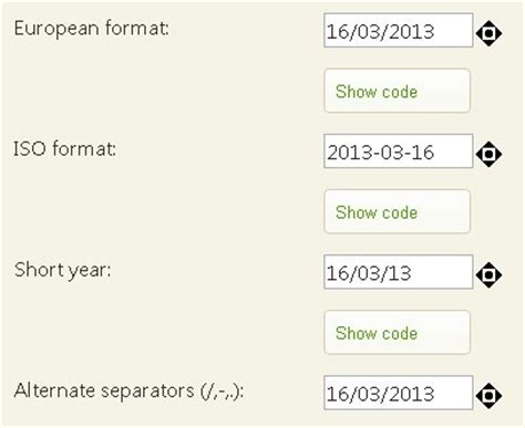 format date in javascript jquery jquery plugin for input field date format and spinner