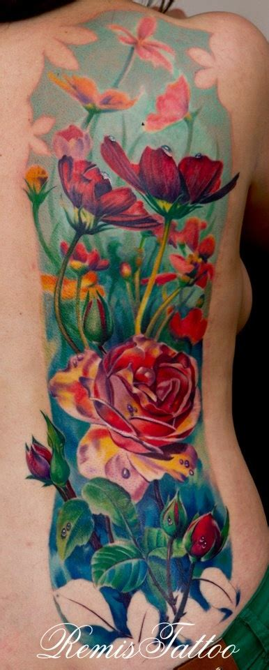 color works tattoo remis cizauskas garden of flowers this color