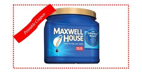 printable maxwell house coupons printable coupon save 1 on maxwell house